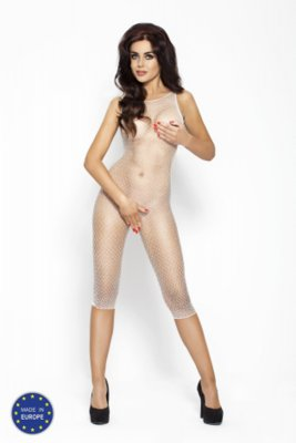 Catsuit PASSION BS005 biely S-L