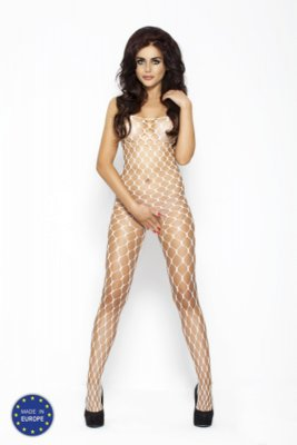Catsuit PASSION BS001 biely S-L